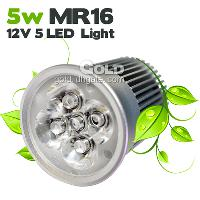 Energy- saving LED Spotlight 5W MR16 12V 5 LED Lights with 47...