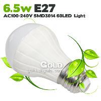 Power Saving LED Bulbs 6. 5W E27 AC100- 240V SMD3014 60 LED Li...
