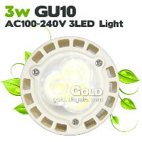 Power Saving LED Lights 3W GU10 AC100- 240V 3 LED 300LM Pure ...