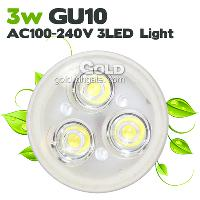 Power Saving LED Lights 3 Led 3W GU10 AC100- 240V LED Bulbs w...