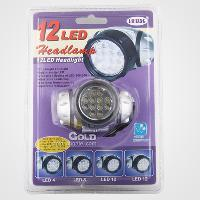 4 Mode 12 LED Head Flashlight Torch Headlamp Flashlight(3*AA...