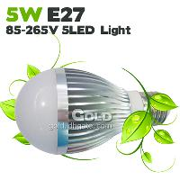 LED Bulbs 5W E27 85- 265V LED Lights Energy- saving in two lam...