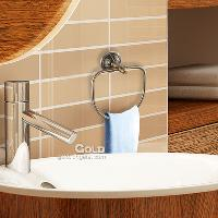 New Stylish Metal Wall Mounted towel Rack hand towel ring(Br...