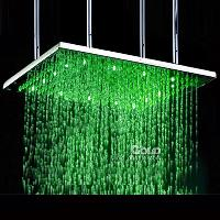 Temperature Sensing 40 inch Shower Head Three Color Changing...