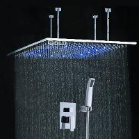 Temperature Sensing 50*100cm Shower Head Color Changing LED ...