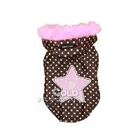 Lovely Pet Dog Princess Coat Soft Pet Clothing with Star Pat...
