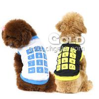 Fashion Pet Clothing with Cellphone Number Pattern LX- 4245