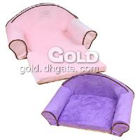 Longer Sofa Bed Soft Pet Bed in Pink Purple Color