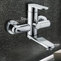 Brass Bathroom Bathtub Faucet with Ceramic Valve in Chrome F...