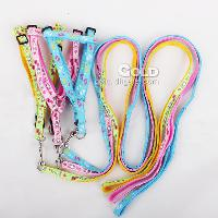 Colorful Fashionable Pet Dog Harness and Leashes