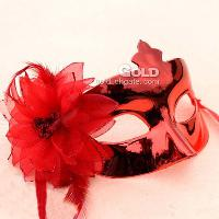 Light plating small beauty flower side party mask