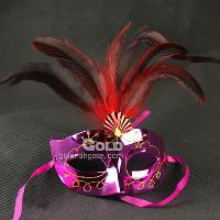 Party mask Five feather style with mixed colour