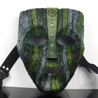 loki mask the mask Prop Memorabilia Resin Mask with green