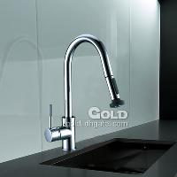 High Quality Solid Brass Kitchen Faucet with Anti- Leakage Va...