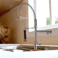 Pull Out Brass Kitchen Faucet (L20*W10*H80cm)