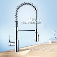 High Quality Pull Out Brass Kitchen Faucet with Ceramic Valv...