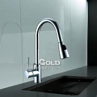 Professional Single Handle Brass Kitchen Faucet with Chrome ...