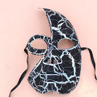 Venetian Crack half face Masquerade Mask in different colour...