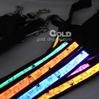 Optical Fiber Dog LED Leashes with Baby Bear Pattern