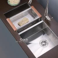 Undermount Stainless Steel Kitchen Sink in Square Shape(Doub...