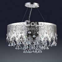 20W Fancy Pendant Chandelier Light 5 Lights & Crystal Dr...
