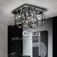40W Crystal Pendant Chandelier Light with 8 Lights Included ...