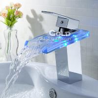 High Quality LED Brass Bathroom Faucet with Ceramic Valve an...
