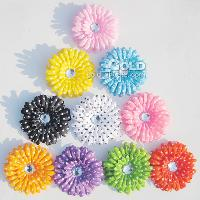9 different colours clothing material rhinestone decorated u...