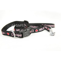Nylon Pet Dog Collar and Leashes with Durable Plastic Button