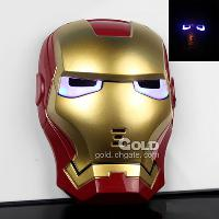 High quality Led Thick plastic Iron Man theme mask