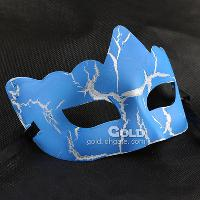 Small wave shape half face PVC crack masquerade mask