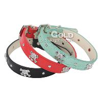 Adjustable Skeleton Decorated Collar with PU Material