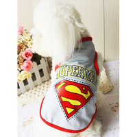 Cozy Pet Dog Superman Sleeveless T- shirt 3 colors