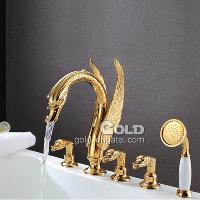 High Quality Swan Series Triple Handle Bathtub Shower Set wi...