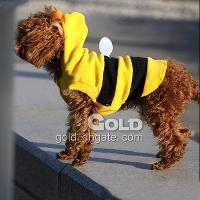 Fashionable Pet Dog T- shirt with Bee Shaped Hoodie