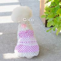 Cotton Suspender Pet Skirt from Professional Pet Clothes Fac...