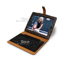 Classic LV Grid Leather Case for iPad 2 Bluetooth Keyboard