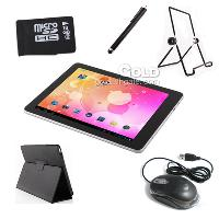 9. 7 inch IPS Android 4. 0. 3 Tablet PC+ Leather case+ 16GB tf c...