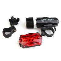 5 LED Safety Warning Flashing Bike Bicycle Flashlight black ...