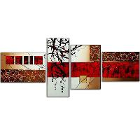 Hand- painted 4- pcs Abstract painting set Oil Painting 24&quo...