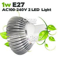 Energy- saving LED Spotlight 1W E27 AC100- 240V 2 LED Lights w...