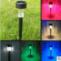 Solar Powered LED Lamp Landscape Garden Path Light Stainless...
