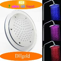Automatic 7- Color LED Water Glowinging Shower Head Light (AB...