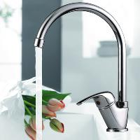 High Brass Kithen Basin Faucet Mixer Tap(chrome finish)