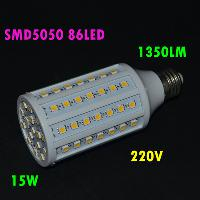 Power- saving Led Light 15W AC220V G24 E27 B22 86 LED SMD5050...