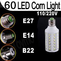 E27 220V 5050 SMD 12W LED Corn bulb lamp Warm White 60 leds