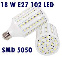 1800- 1900LM 18W E27 102 LED SMD 5050 Warm White Screw Corn L...