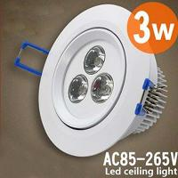LED downlight ceiling light 3W 90- 100Lm W 85- 260VAC Energy- s...