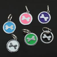 Adorable Colourful Dog Pendant with Circular Shaped