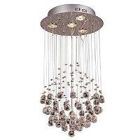 Crystal Chandelier with 4 Lights in Globe Shape